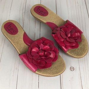 B.O.C. Born Concepts pink floral sandals, size 9